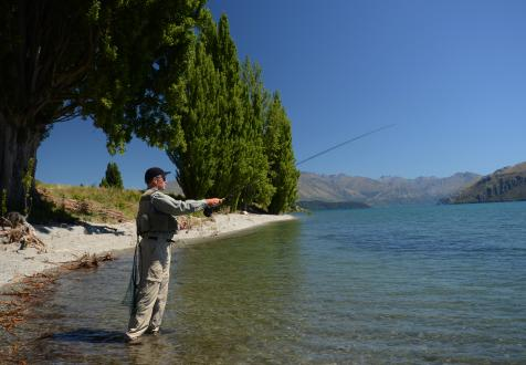 Fishing Lake Wanaka