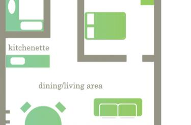 One Bedroom Apartment Map Layout - Edgewater Hotel, Lake Wanaka, New Zealand